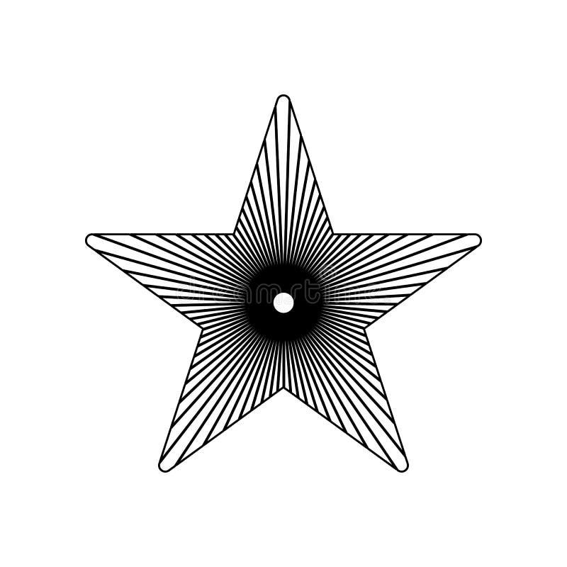 Pi?cioramienna gwiazdowa ikona Element gwiazdy dla mobilnego poj?cia i sieci apps ikony Kontur, cienka kreskowa ikona dla strona  royalty ilustracja