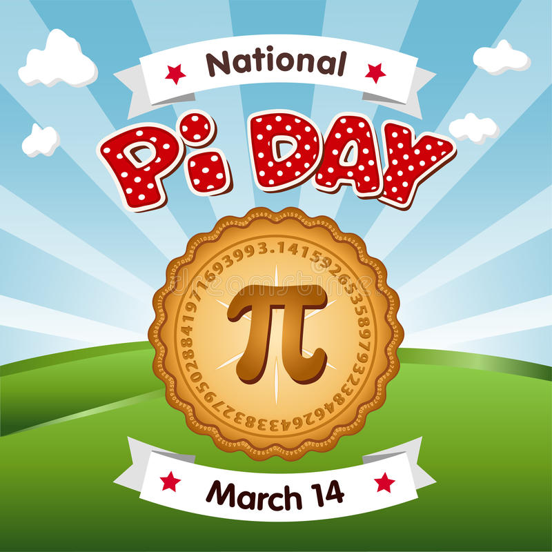Download Pi Day, March 14, Eat Pie stock vector. Illustration of eps8 - 81254527