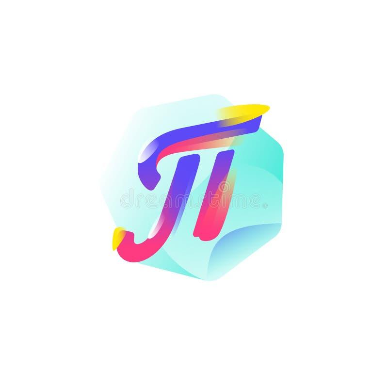 Pi för matematiskt symbol gears symbolen Plan symbol för lutning Emblemet av matematiker är nummer 3 14 Den grekiska bokstaven E stock illustrationer