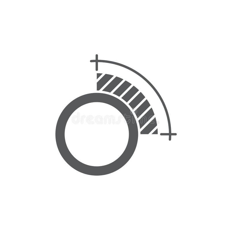 Pi graph vector icon symbol statistics isolated on white background. Eps10 royalty free illustration