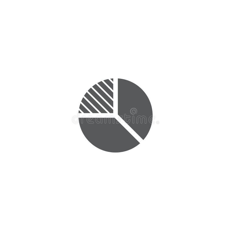 Pi graph vector icon symbol statistics isolated on white background. Eps10 stock illustration