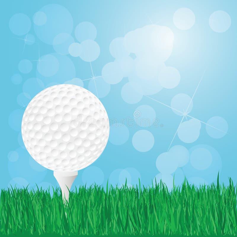 Download Piłka golfowa na trawie obraz stock. Obraz złożonej z trawy - 28952589