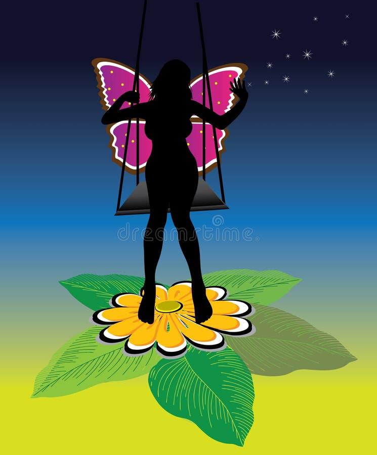 Download Piękna czarodziejka ilustracja wektor. Obraz złożonej z trochę - 7420932