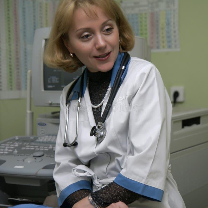 Piękna doktorska kobieta