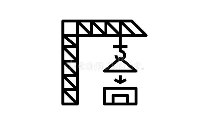 Pi?kna, Drobiazgowo Projektuj?ca budowa ?urawia ikona, royalty ilustracja