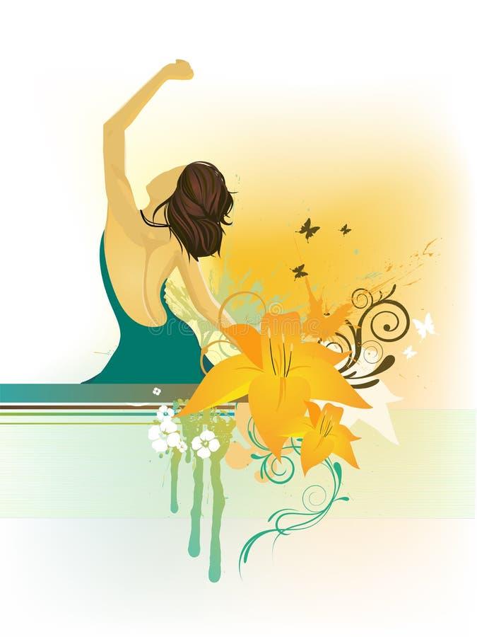 Download Piękna kobieta ilustracja wektor. Ilustracja złożonej z dziewczyna - 13326429