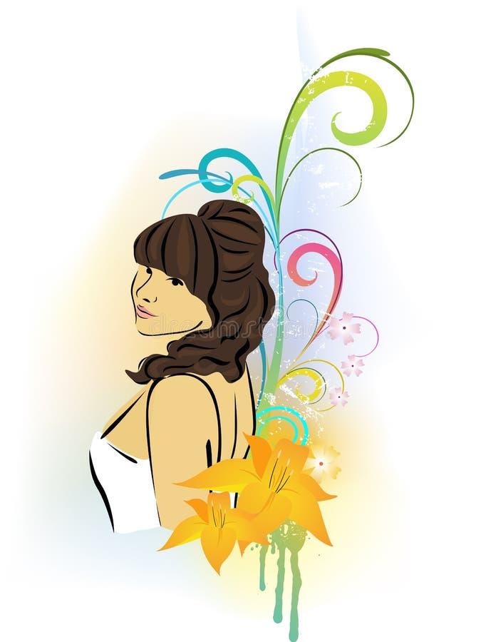 Download Piękna kobieta ilustracja wektor. Ilustracja złożonej z kobieta - 13326563