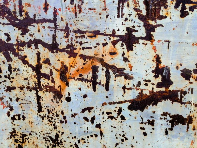 Pi?kne zbli?enie tekstury metalu i stali abstrakcjonistyczny stary o?niedzia?y t?o zdjęcie royalty free