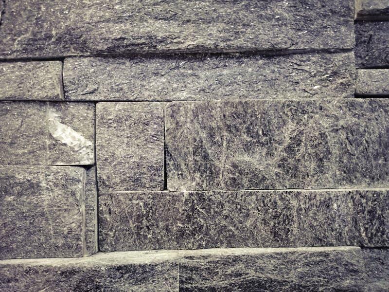 Pi?knej zbli?enie tekstur abstrakta ?ciany kamiennej i dach?wkowej pod?ogi t?o fotografia royalty free