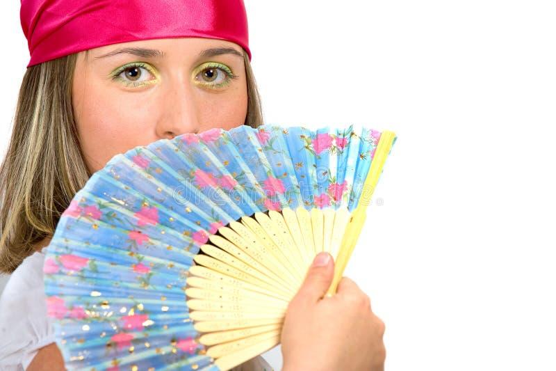 Download Piękni Fan Dziewczyny Falowania Potomstwa Zdjęcie Stock - Obraz złożonej z dziewczyna, radosny: 13325454