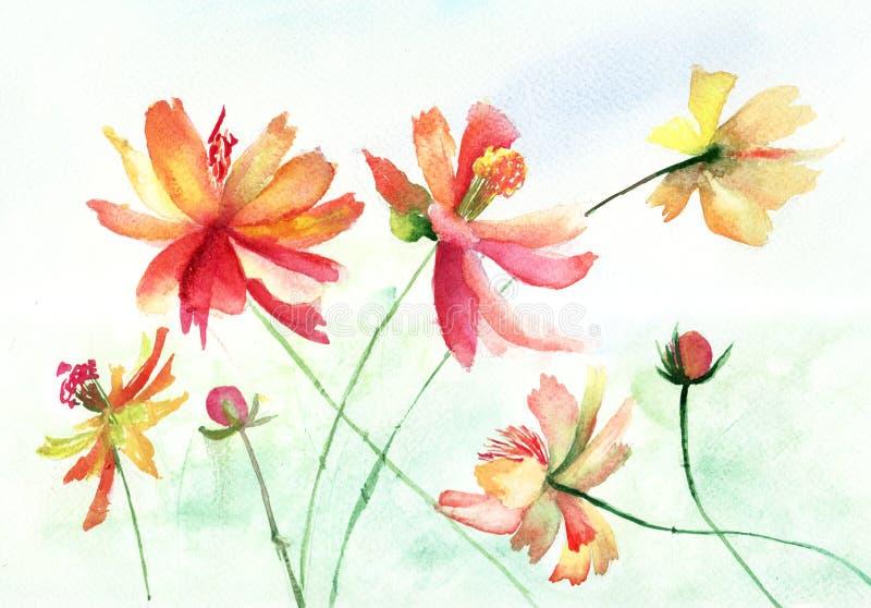 Download Piękni kwiaty ilustracji. Obraz złożonej z odrodzenie - 26285101