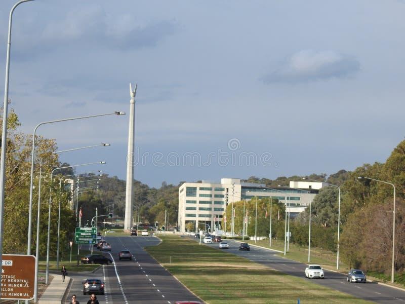 Pi?kni miasta Australia s? Canberra i Sydney zna? dla Gryf jeziora, muzeum narodowe, sztuki galeria, parlament fotografia royalty free