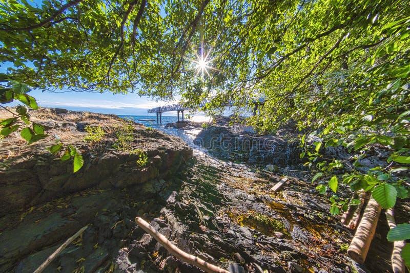 Pi?kni sceniczni g??biki Vancouver i Fraser dolina fotografia stock