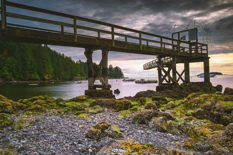 Pi?kni sceniczni g??biki Vancouver i Fraser dolina obraz royalty free