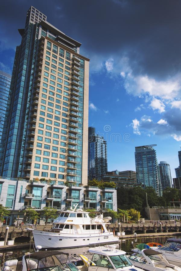 Pi?kni sceniczni g??biki Vancouver i Fraser dolina fotografia royalty free