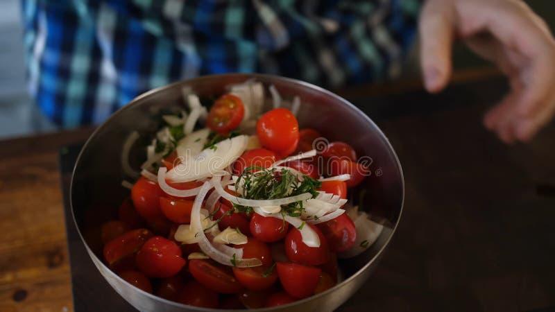 Pi?kni ?wiezi pomidory Czere?niowi pomidory obraz royalty free