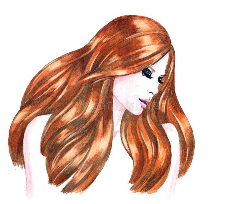 Download Piękno ilustracji. Ilustracja złożonej z model, moda - 53783332