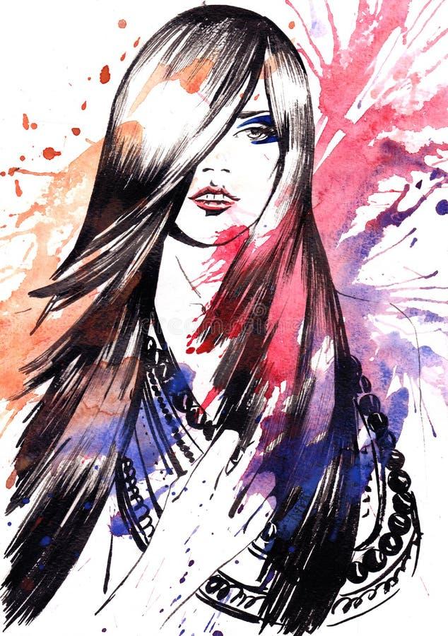 Download Piękno ilustracji. Ilustracja złożonej z płomień, kolia - 53783367
