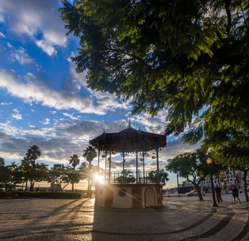 pi?kny dziejowy gazebo Faro miasto obraz stock