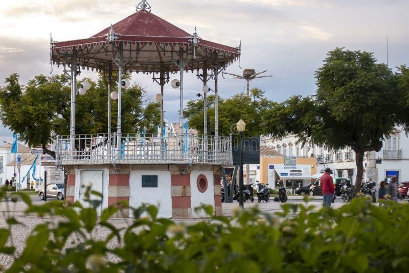 pi?kny dziejowy gazebo Faro miasto zdjęcie royalty free