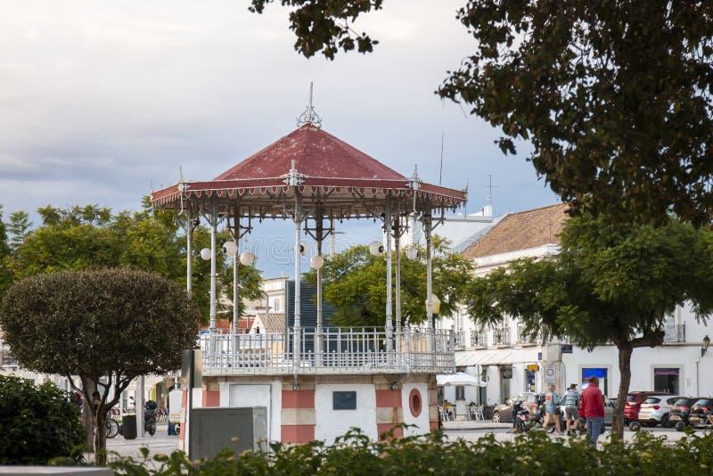pi?kny dziejowy gazebo Faro miasto zdjęcia royalty free