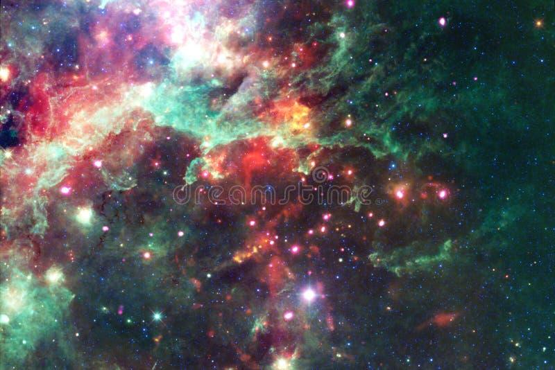Pi?kny galaxy t?o z mg?awic?, stardust i jaskrawymi gwiazdami, obraz stock