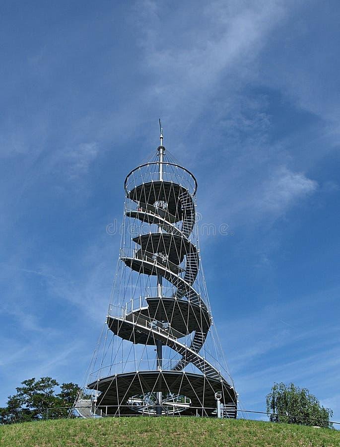 Pi?kny H?henpark Killesberg w Stuttgart w Niemcy fotografia royalty free