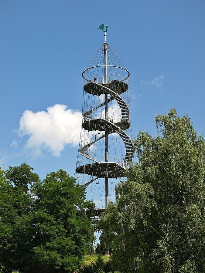 Pi?kny H?henpark Killesberg w Stuttgart w Niemcy obraz royalty free