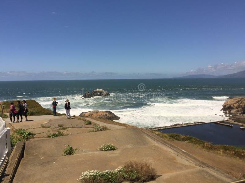 pi?kny ocean na pla?y zdjęcie royalty free