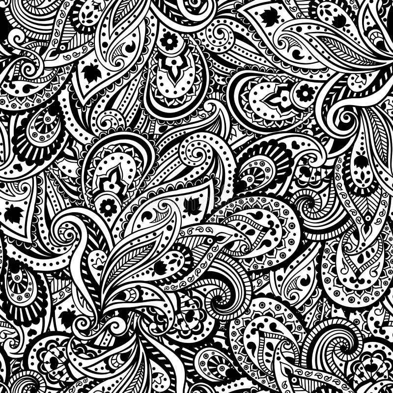 Download Piękny Paisley wzór ilustracja wektor. Ilustracja złożonej z kardamon - 28959106