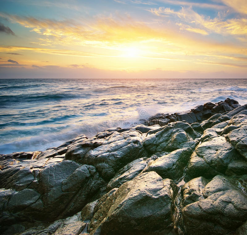 Download Piękny Seascape obraz stock. Obraz złożonej z seascape - 57658033