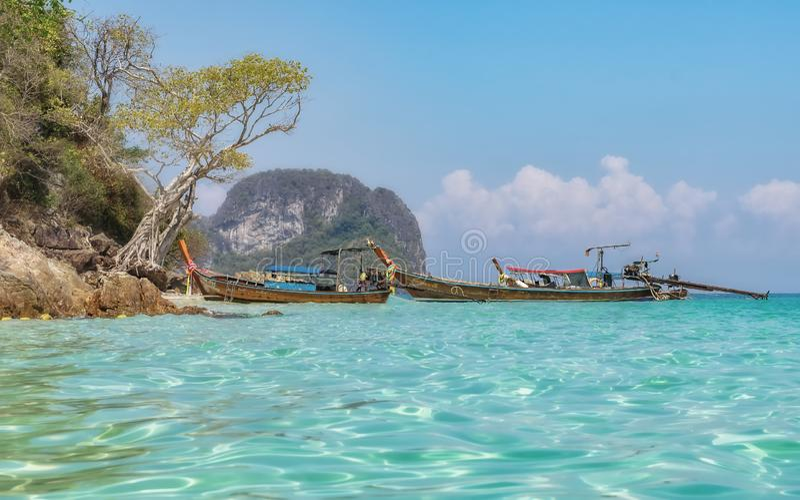 pi?kny Thailand Krabi w Tajlandia fotografia stock