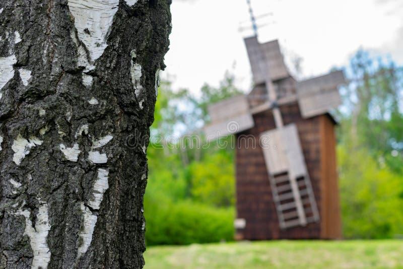 Pi?kny wiatraczka krajobraz w Polska zdjęcie royalty free