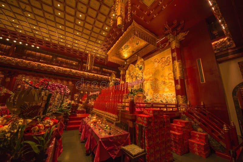 Pi?kny widok buddyjska ?wi?tynia w Singapur zdjęcia stock