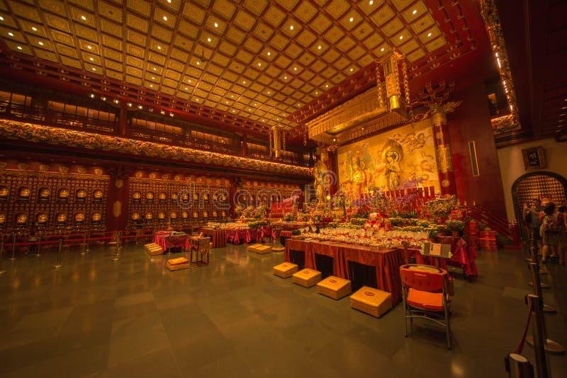 Pi?kny widok buddyjska ?wi?tynia w Singapur fotografia royalty free