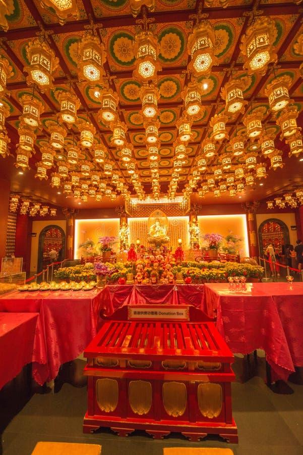 Pi?kny widok buddyjska ?wi?tynia w Singapur zdjęcia royalty free