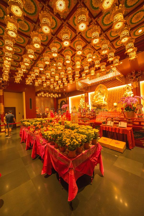 Pi?kny widok buddyjska ?wi?tynia w Singapur fotografia stock