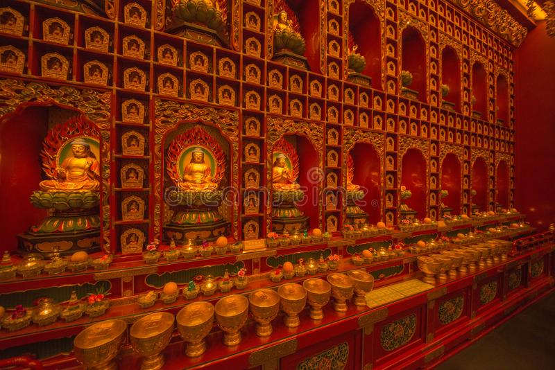 Pi?kny widok buddyjska ?wi?tynia w Singapur zdjęcie stock