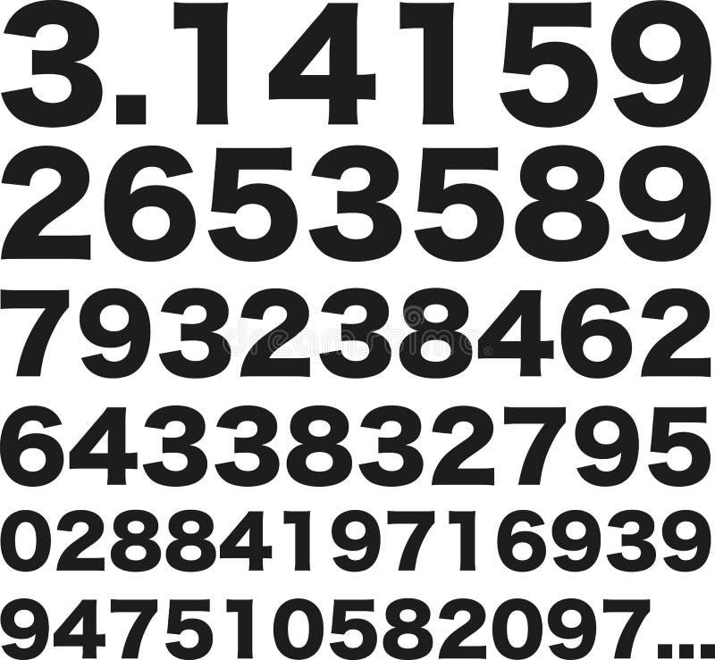 Pi número 3 141592653589 ilustração stock