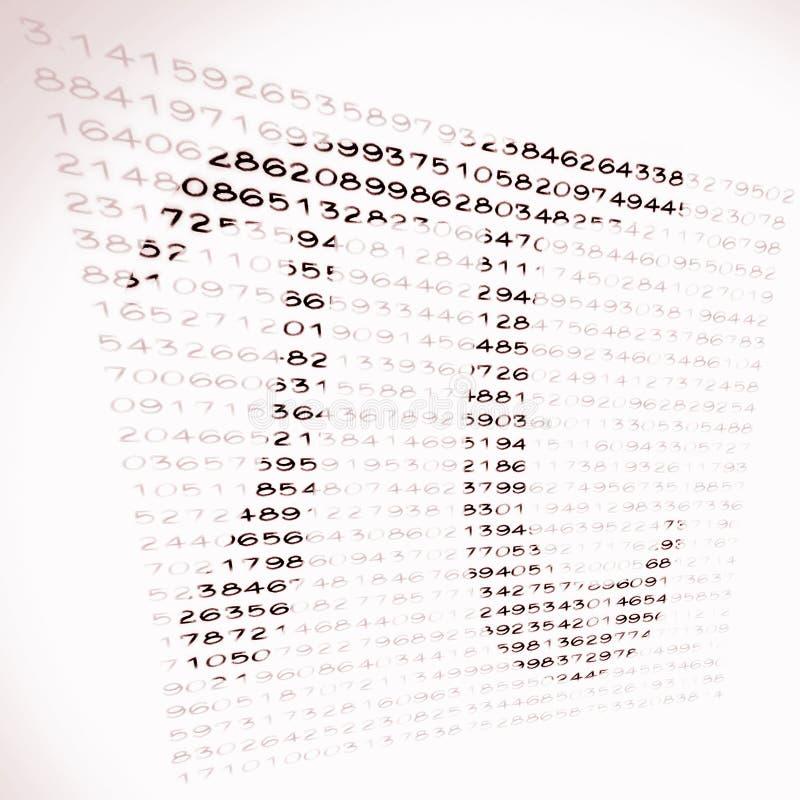 Pi-nummer Arkivfoto