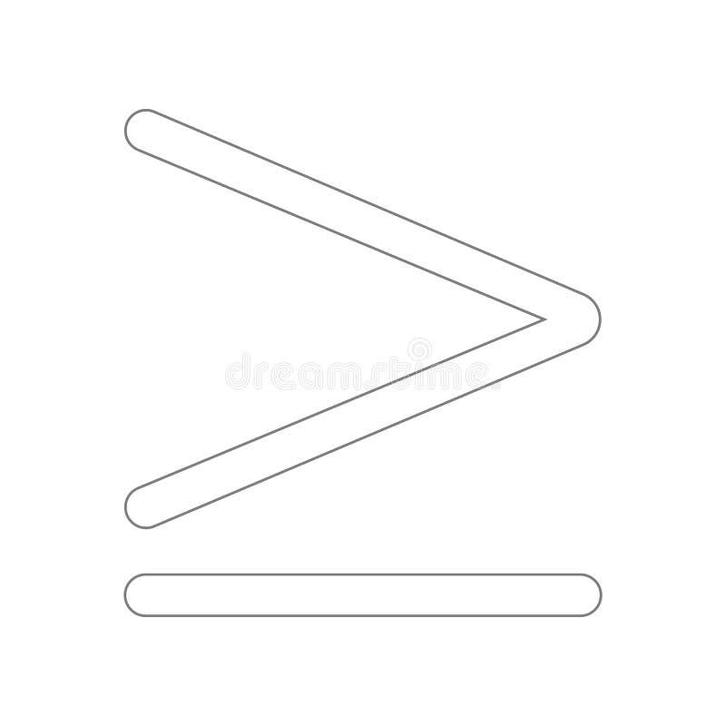 pi? o icona uguale di simbolo Elemento del web per il concetto e l'icona mobili dei apps di web _profilo, sottile linea icona per illustrazione vettoriale
