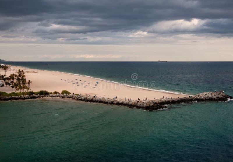 Pi Plage de Lauderdale, la Floride image libre de droits