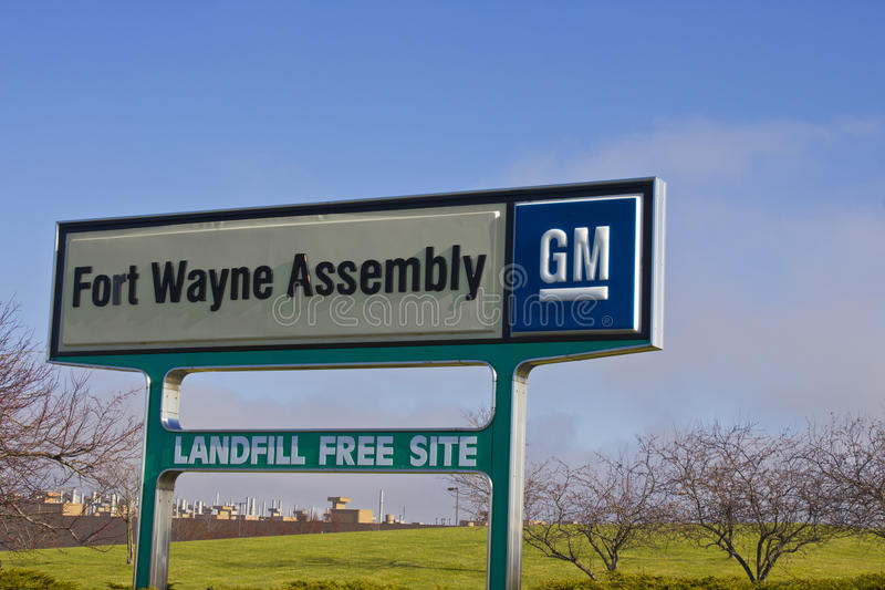 Pi Wayne - vers en décembre 2015 : Fort Wayne Assembly Plant de GM photo stock