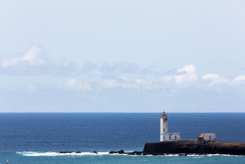 Pia Марии маяка, Прая, Кабо-Верде стоковая фотография rf