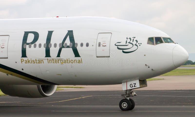 PIA Airlines Boeing 777 fotografía de archivo libre de regalías
