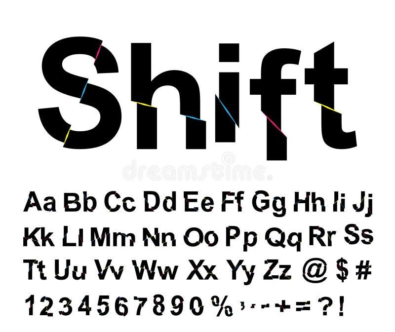 Pia batismal abstrata da SHIFT ilustração royalty free