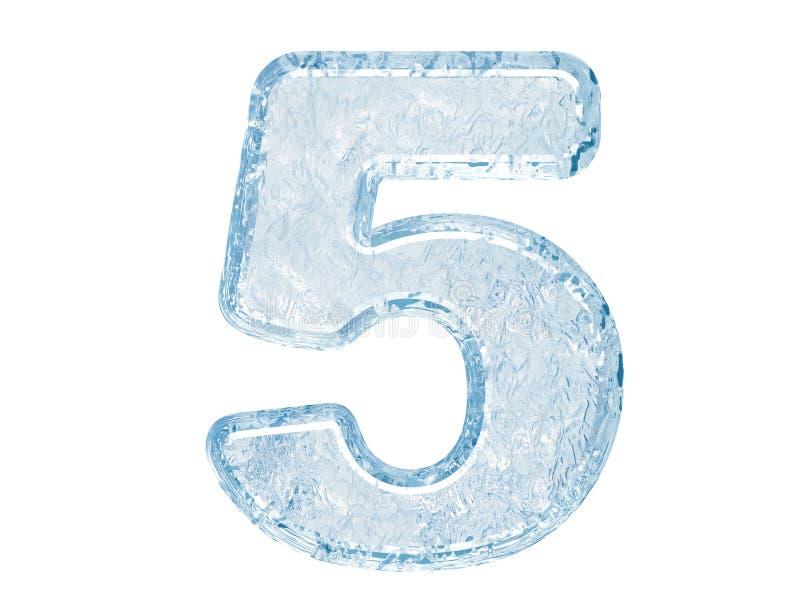 Pia batismal do gelo. Número cinco ilustração stock
