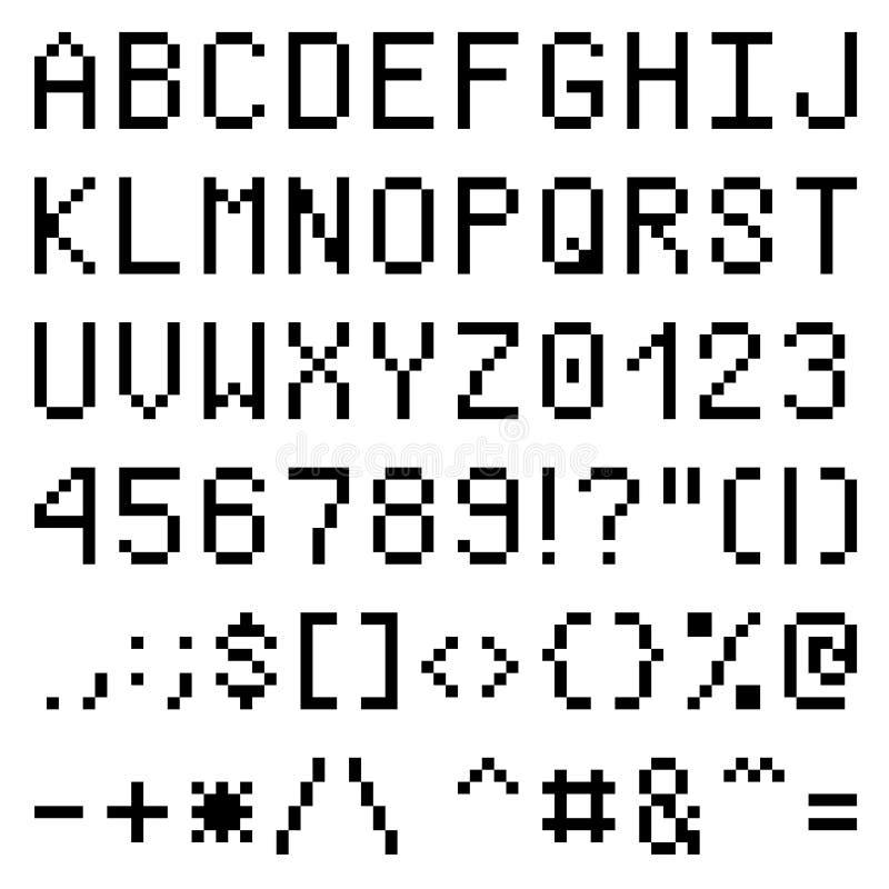 Pia batismal do pixel ilustração stock