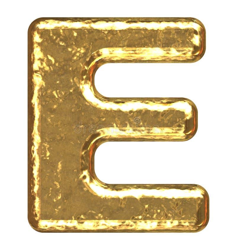Pia batismal dourada. Letra A. ilustração do vetor