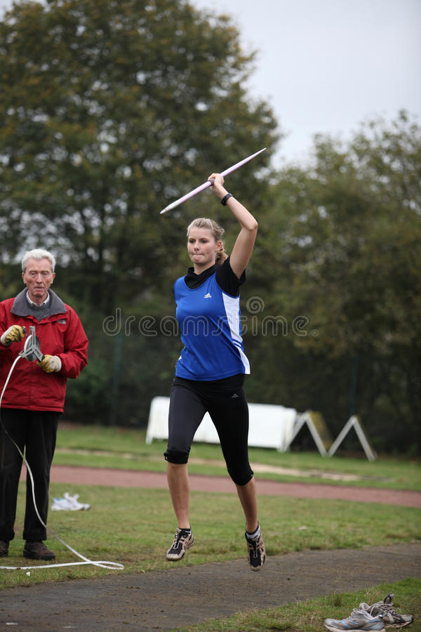 Pia Brinkert - lanciatore dell'atleta - fotografie stock